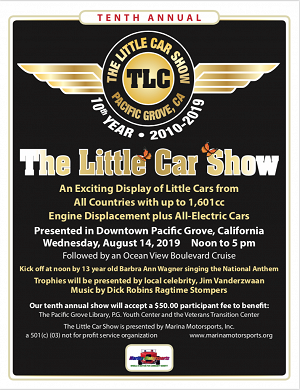 2019 The Little Car Show Poster
